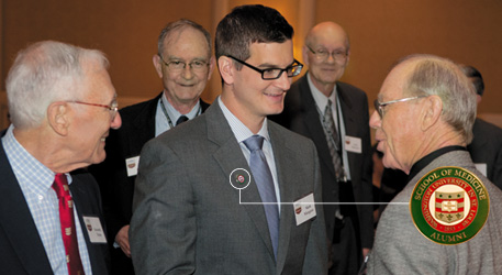 The Class of 1962 introduced a new Reunion tradition in 2012 by giving alumni pins to the graduating class.